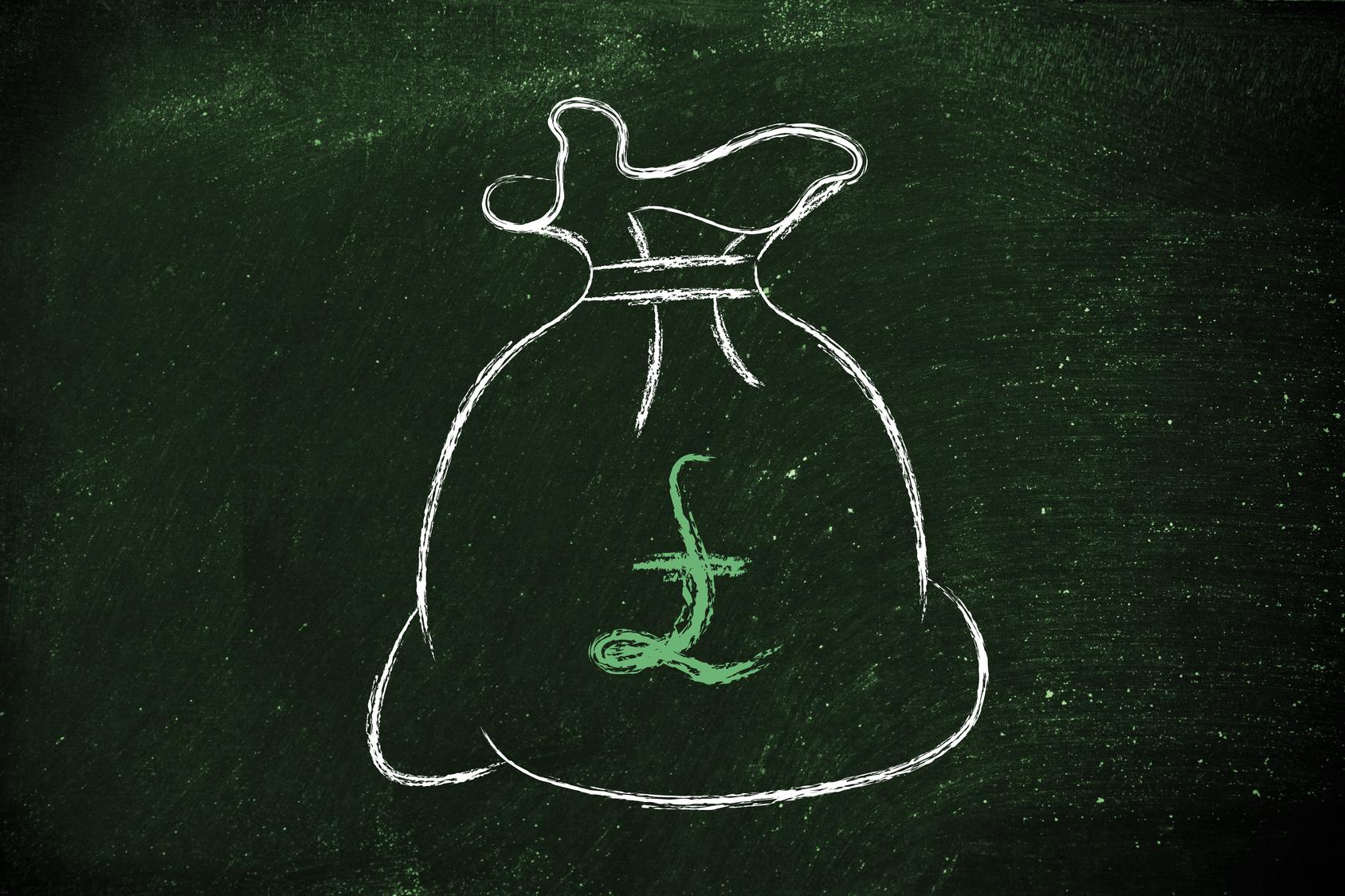 pound money bag
