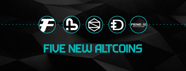 Five New Altcoins