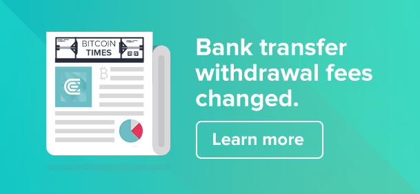New Fees for Bank Transfer Withdrawals