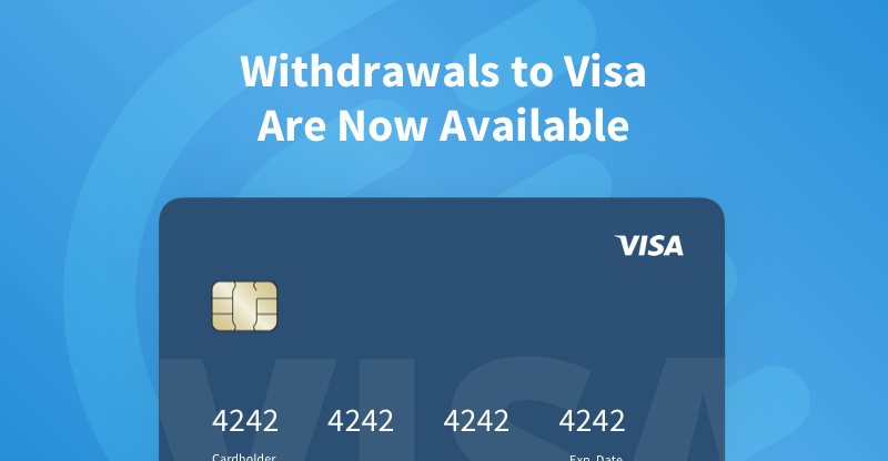 Withdrawals to Visa Now Enabled on CEX.IO