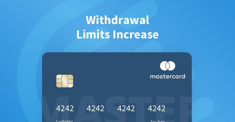 MasterCard Withdrawal Limit Increase for Verified Accounts