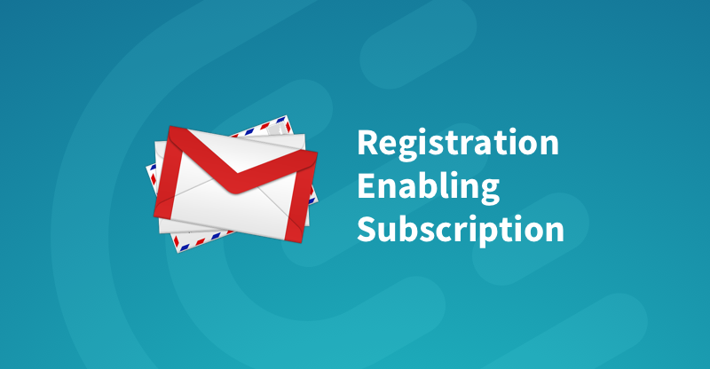 Subscription to Registrations Opening Email