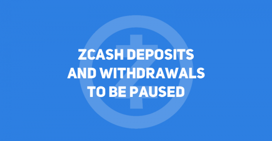 Zcash Processing on CEX.IO to Pause for the Fork