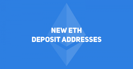 New ETH Addresses to Be Used