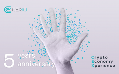 CEX.IO Celebrates 5th Anniversary: Milestones and Achievements