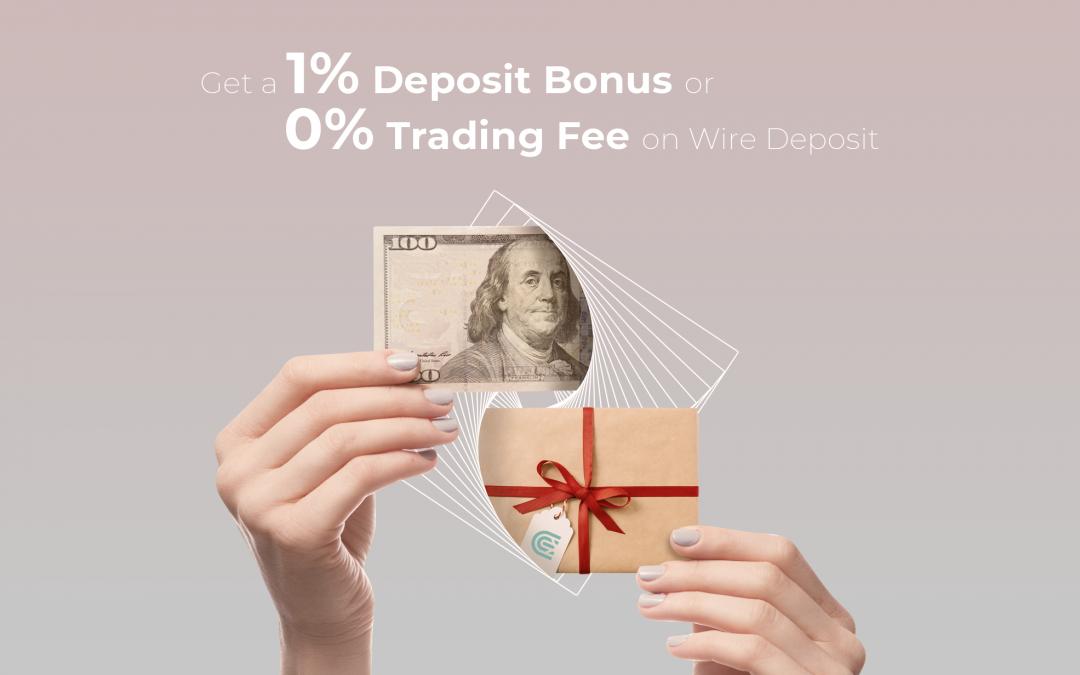 Bonus on Wire Deposit on CEX.IO