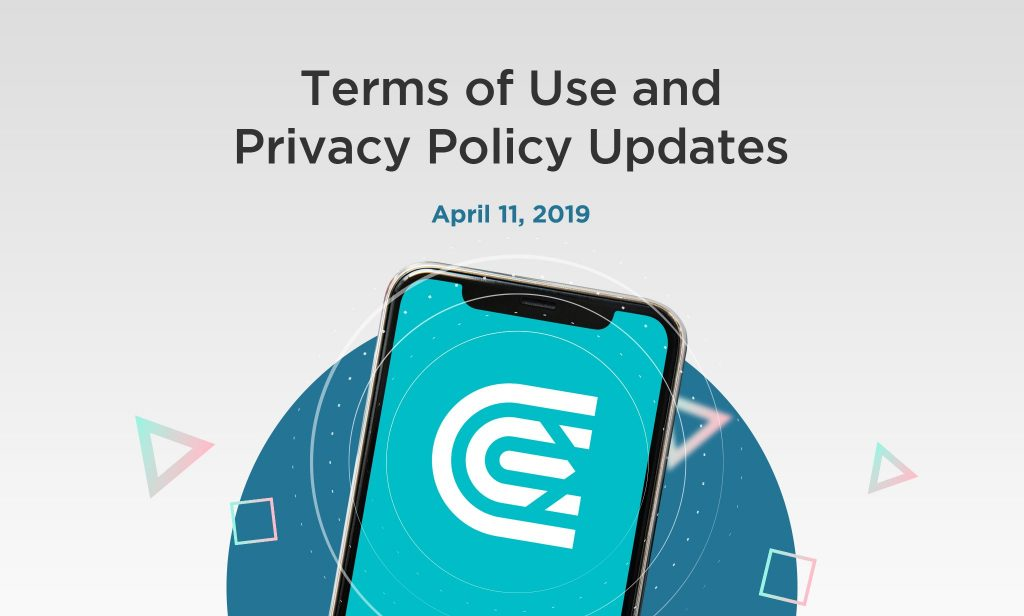 Changes to the Privacy Policy and Terms of Use: April 11, 2019