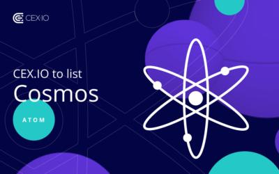 CEX.IO to list Cosmos (ATOM)