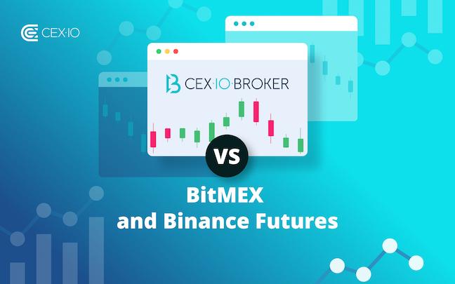 How CEX.IO Broker is Different: CEX.IO Broker vs BitMEX vs Binance Futures