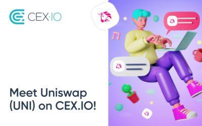 CEX.IO has listed Uniswap (UNI)