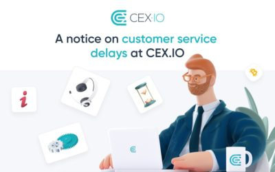 A notice on customer requests response delays at CEX.IO