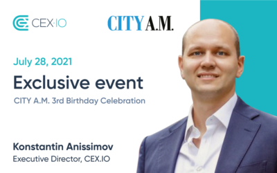 CEX.IO will take part in City A.M. exclusive event
