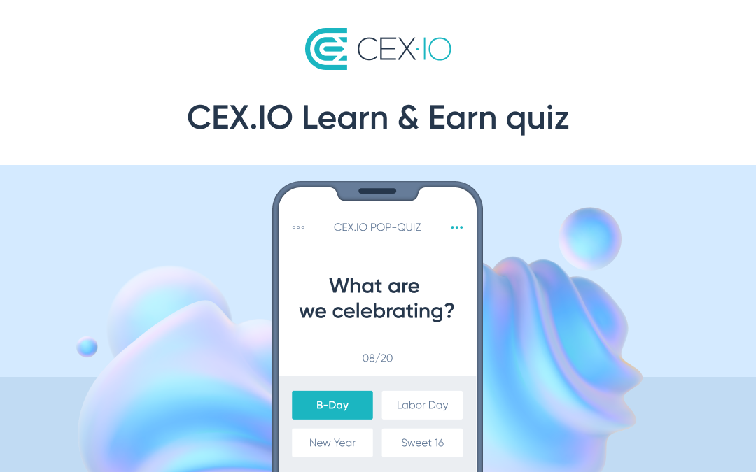 CEX.IO Learn & Earn quiz